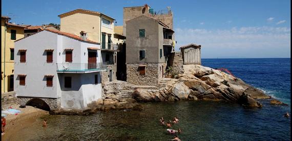 Insel Giglio bucht von Saraceno