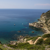 Sea bottoms on Giglio Island
