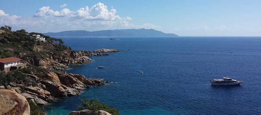 Giglio Island autumn: 3 places