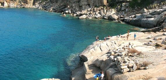 isola del Giglio in estate