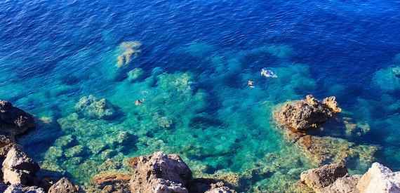 le spiagge selvagge dell'isola del Giglio